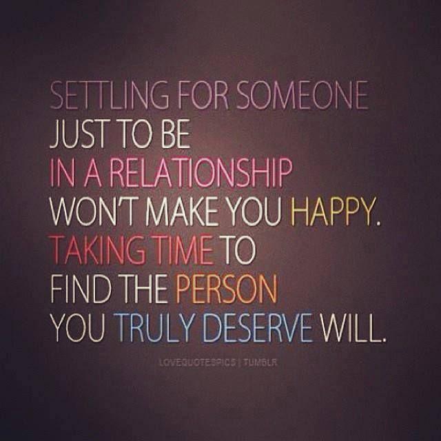 Settling in a relationship