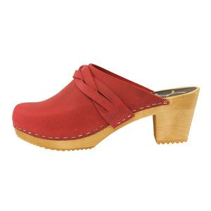 DALA Clog Red, $79, now featured on Fab.