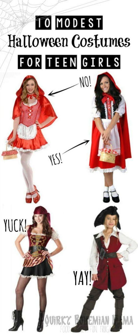 10 Modest Alternatives to Popular Halloween Costumes for Teen Girls. Modest Halloween costumes for teen girls modest costumes.  sc 1 st  Pinterest & 10 Modest Versions of Popular Teen Girl Halloween Costumes | Modest ...