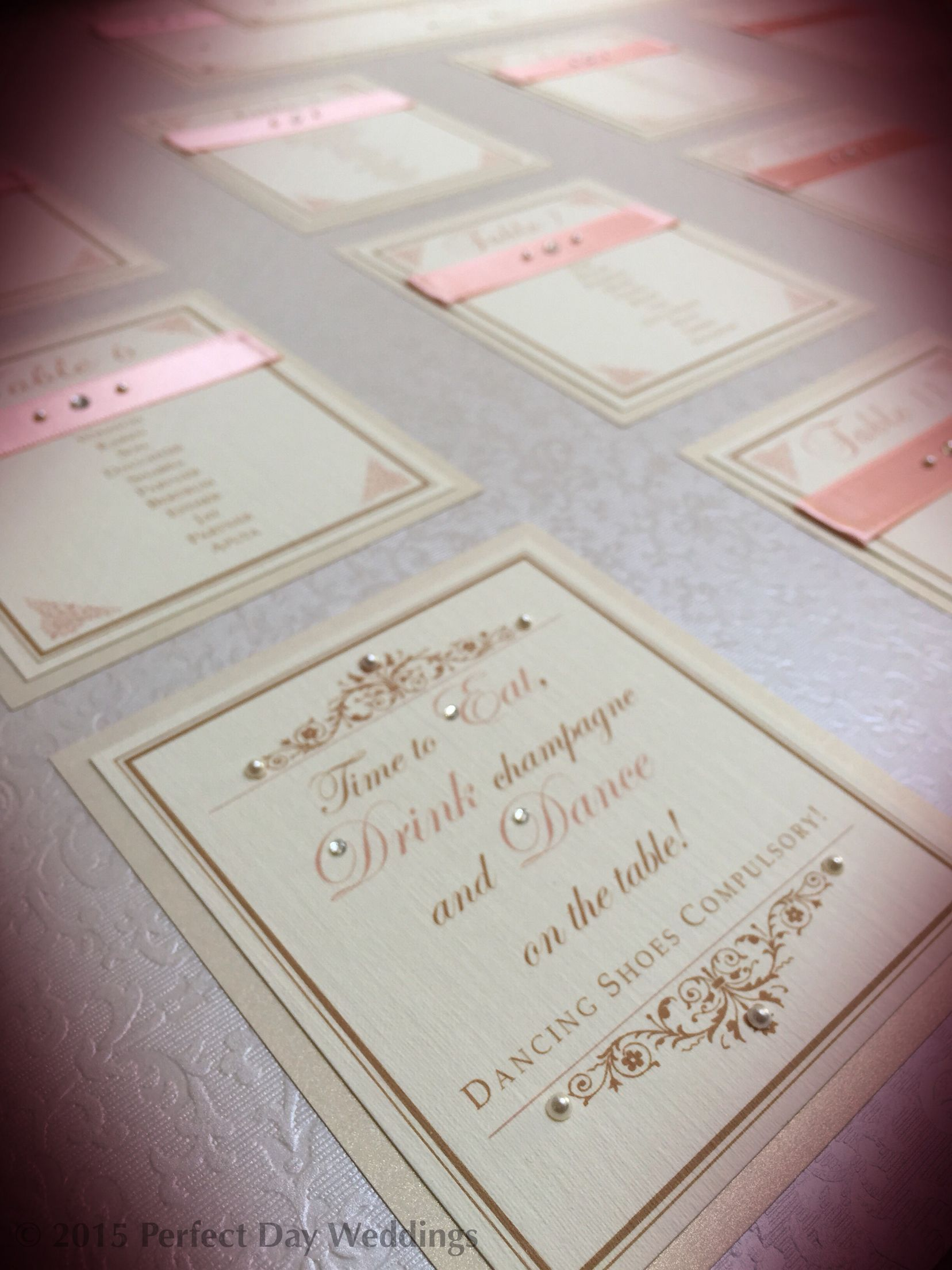Peach tableplan: Indian wedding invitations & bespoke luxury ...