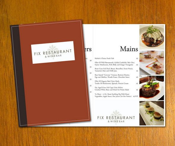 restaurant menu psd template | Layout Guides | Pinterest | Psd ...