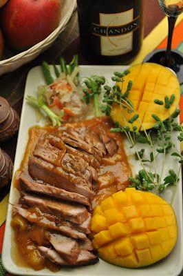Roast Pork Loin with Mango Sauce