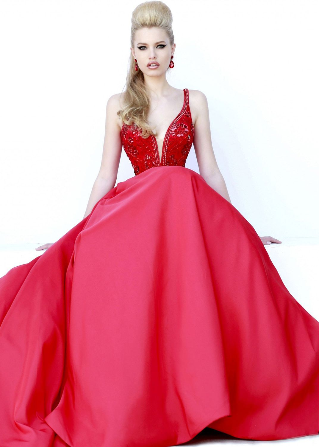 Sherri Hill 32108 Beaded Satin Ball Gown #CrushingonRissyRoos ...