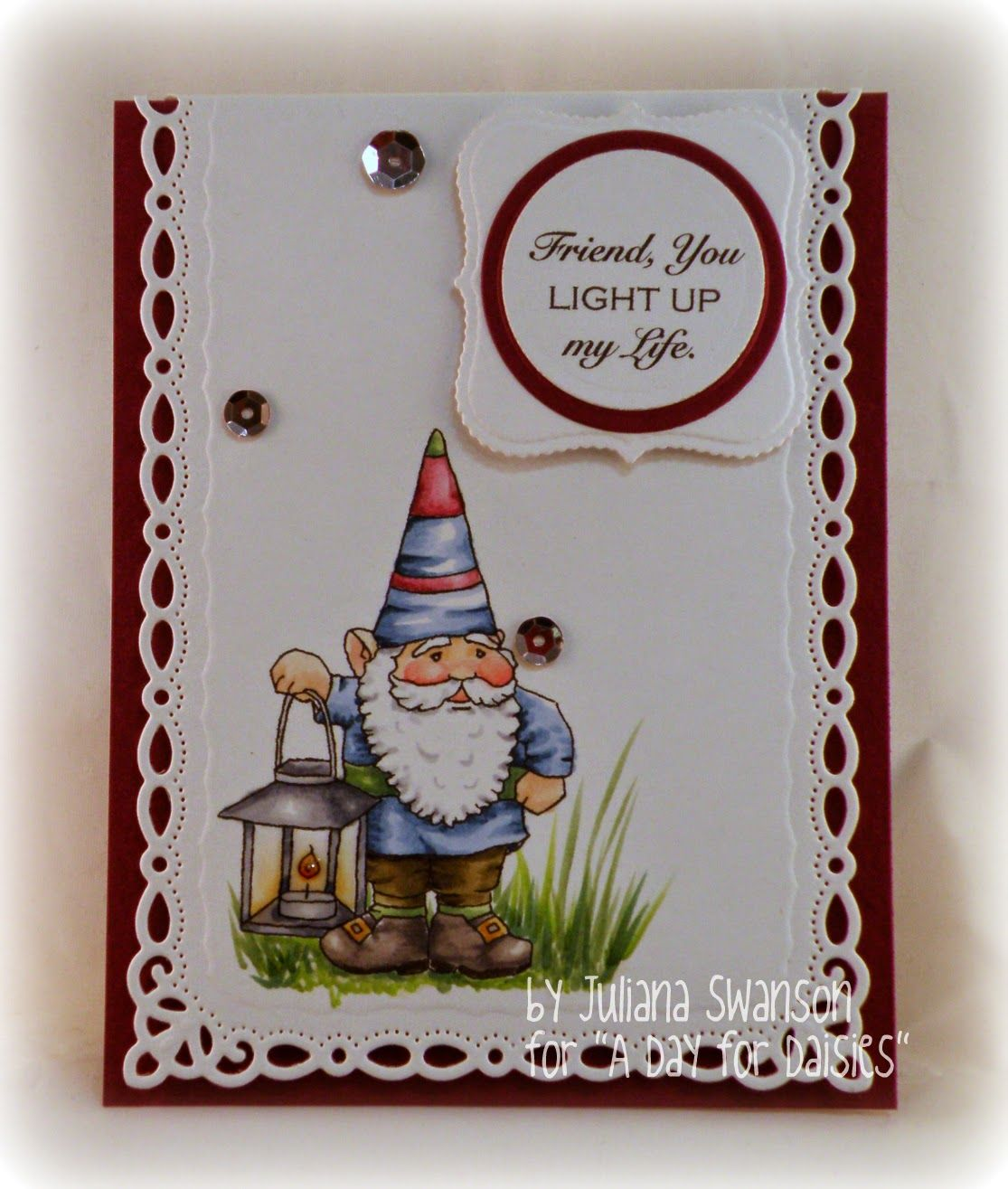 Stampin with Inky Fingers: You Light Up My Life #ADFD #ADayForDaisies image: Night Gnome