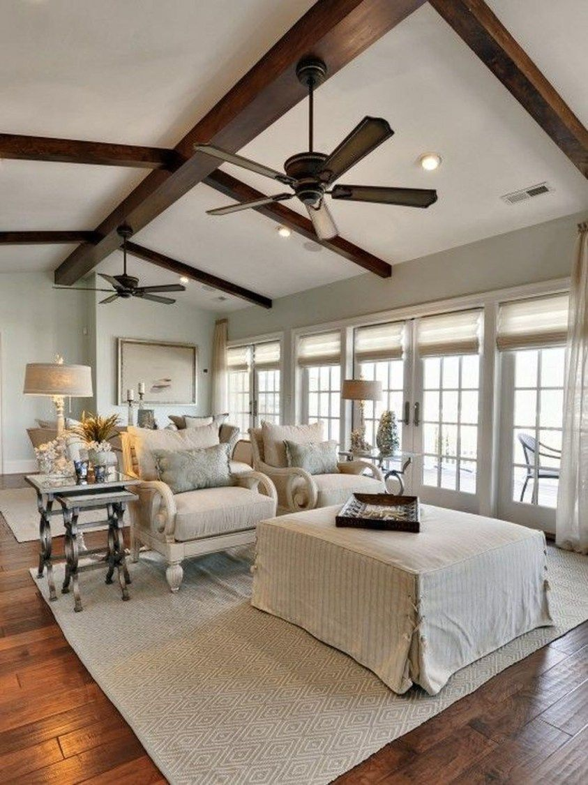 46 The Best Vaulted Ceiling Living Room Design Ideas ...