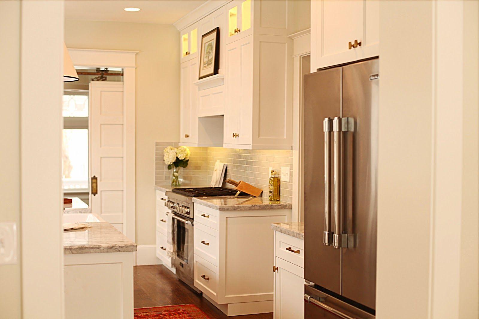 via WHITE + GOLD - Walls: BM Halo Cabinets and trim: BM White Dove ...