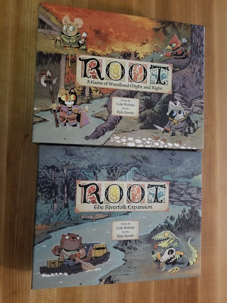 Root Board Game With Riverfolk Expansion Played Twice