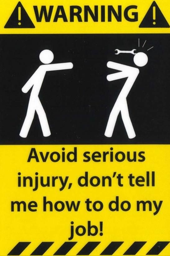 Best Leave It To The Professionals Memes Ego Hammerouch Funny - Car signs on dashboardfunny warning signs funny pinterest signs funny warning