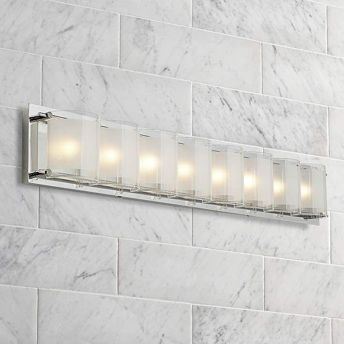 Possini Euro Design Glass Bands 30 12 Wide Bath Light 77802