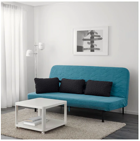 Nyhamn Sleeper Sofa With Triple Cushion With Pocket Spring Mattress Skiftebo Gray Black Anthracite Snug Room Ikea Sofa Bed Selling Furniture