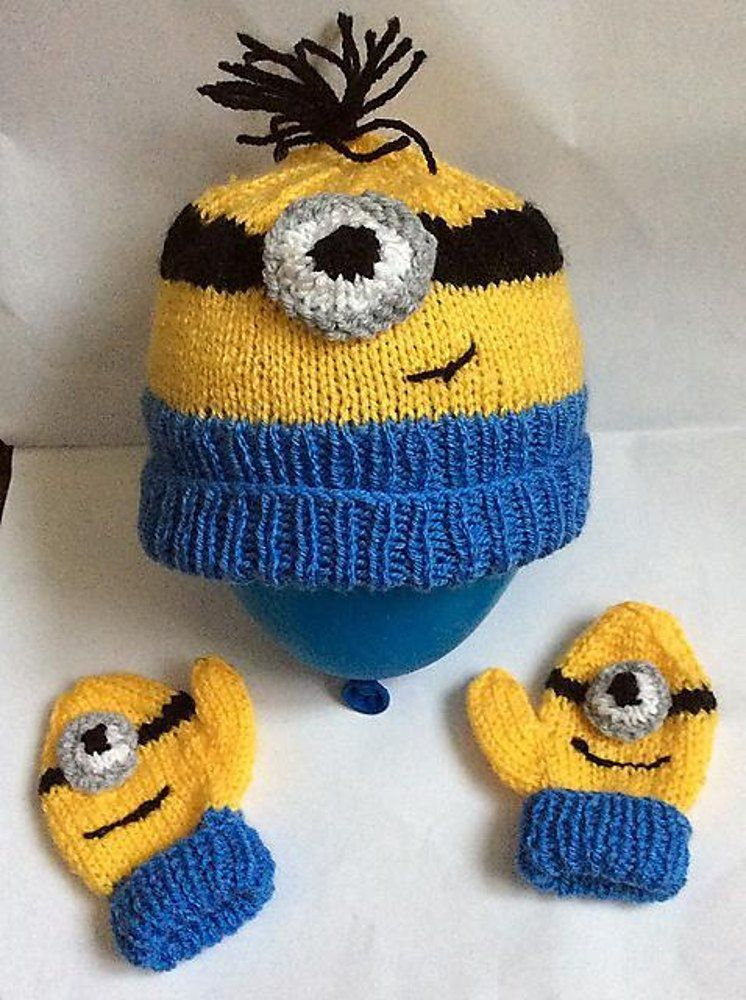 Toddler Minion Hat Diy Pinterest Minion Hats Baby Mittens And