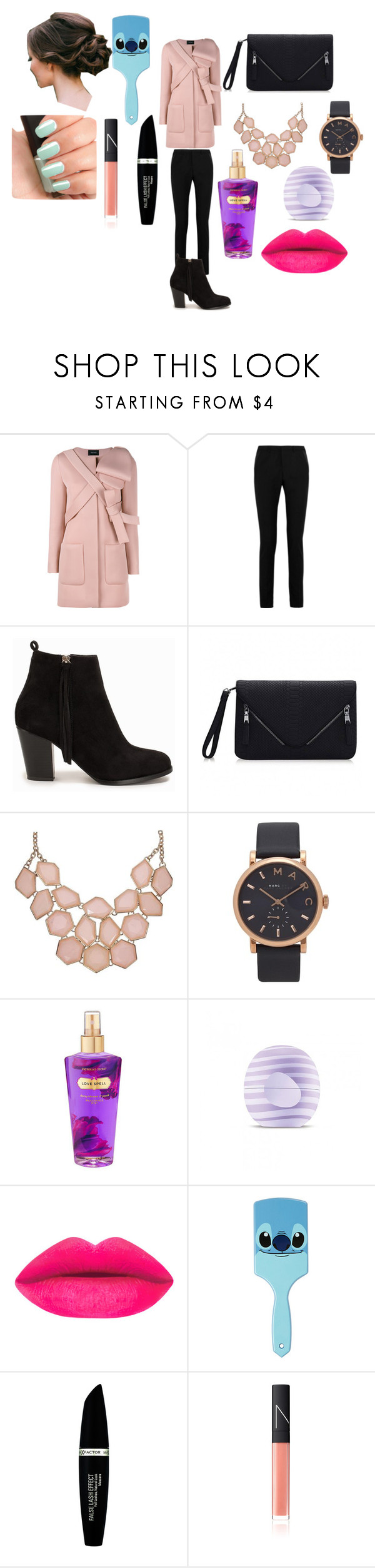 """""""autumn Day"""" by luvaldes on Polyvore featuring Simone Rocha, Yves Saint Laurent, Nly Shoes, Marc by Marc Jacobs, Victoria's Secret, Eos, Disney, NARS Cosmetics and Max Factor"""