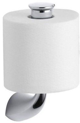 Kohler Bathroom Toilet Paper Tissue Holder Wall Mount Hardware - Kohler bathroom accessories chrome