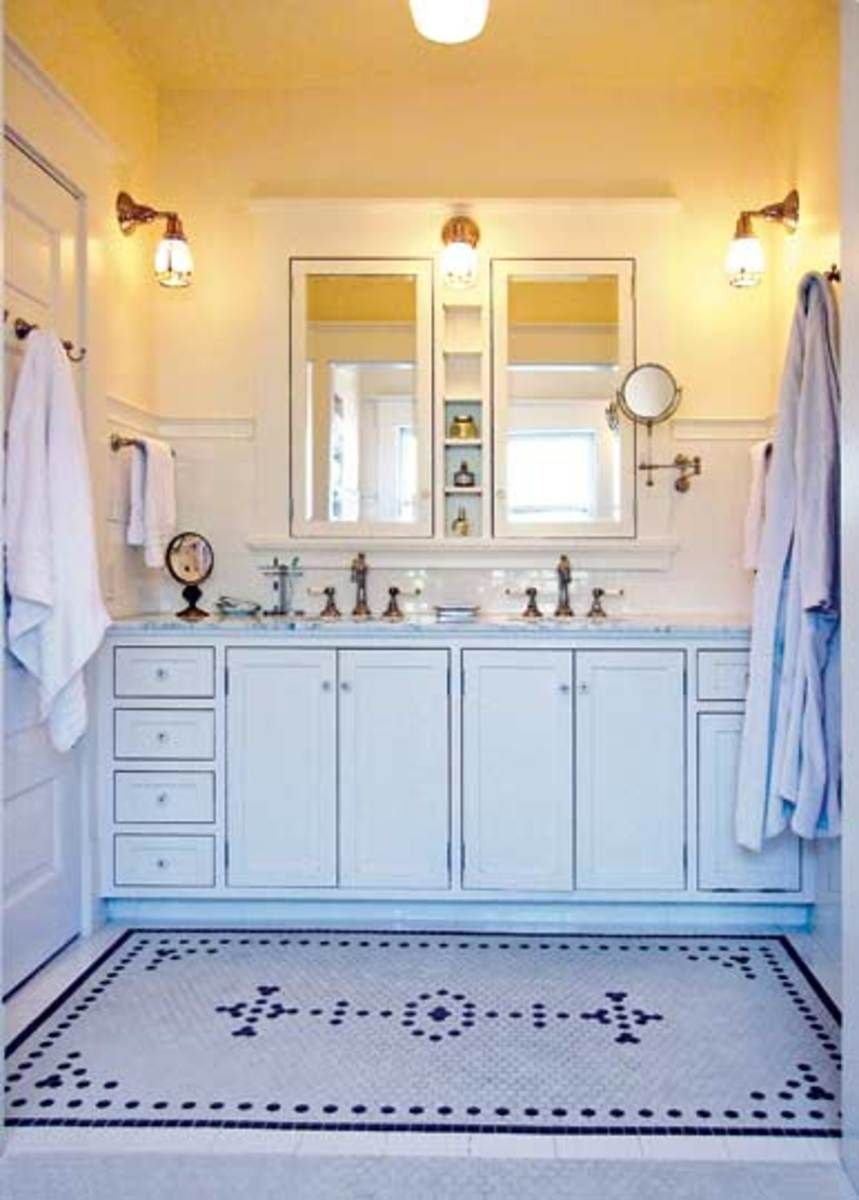 Ideas for 20th-Century Baths   Laundry chute, Howard Miller and Laundry