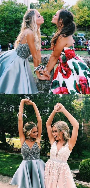 Short grey blue homecoming dress, 2019 short prom dress,JJ535