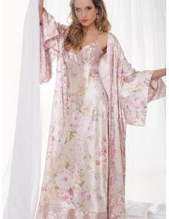 ef131508c Camisola Longa Floral - Mari M Lingerie Para Casamento