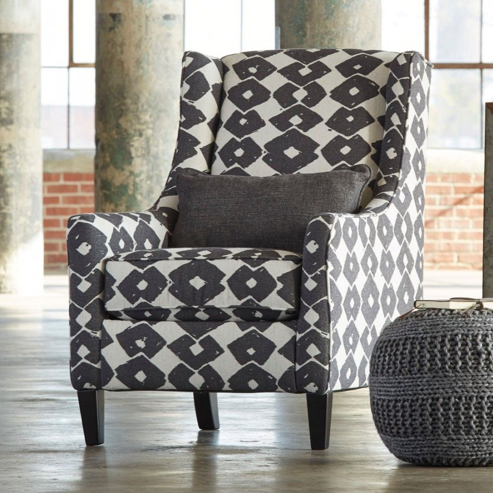 Ashley Furniture Brace Accent Chair In Granite Furniture Accent