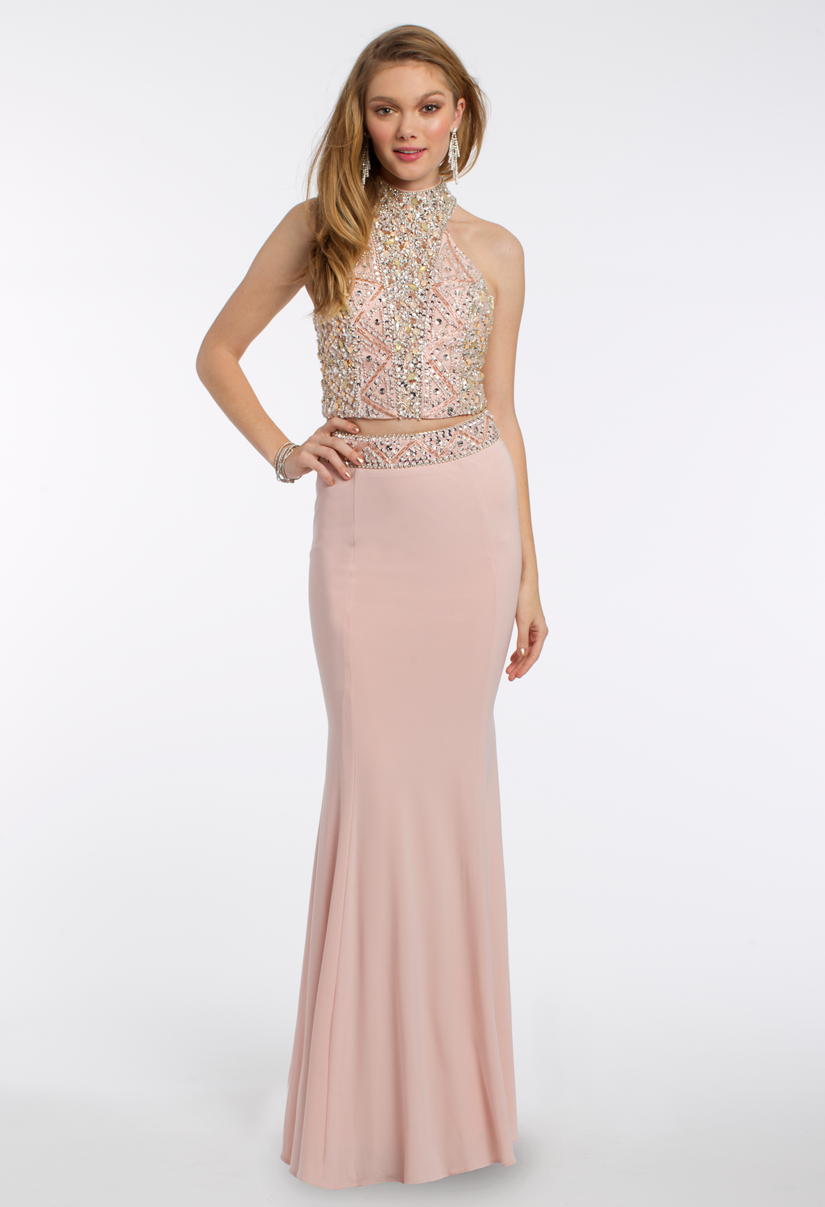 Give off a princess vibe in this polished prom dress! The beaded two ...