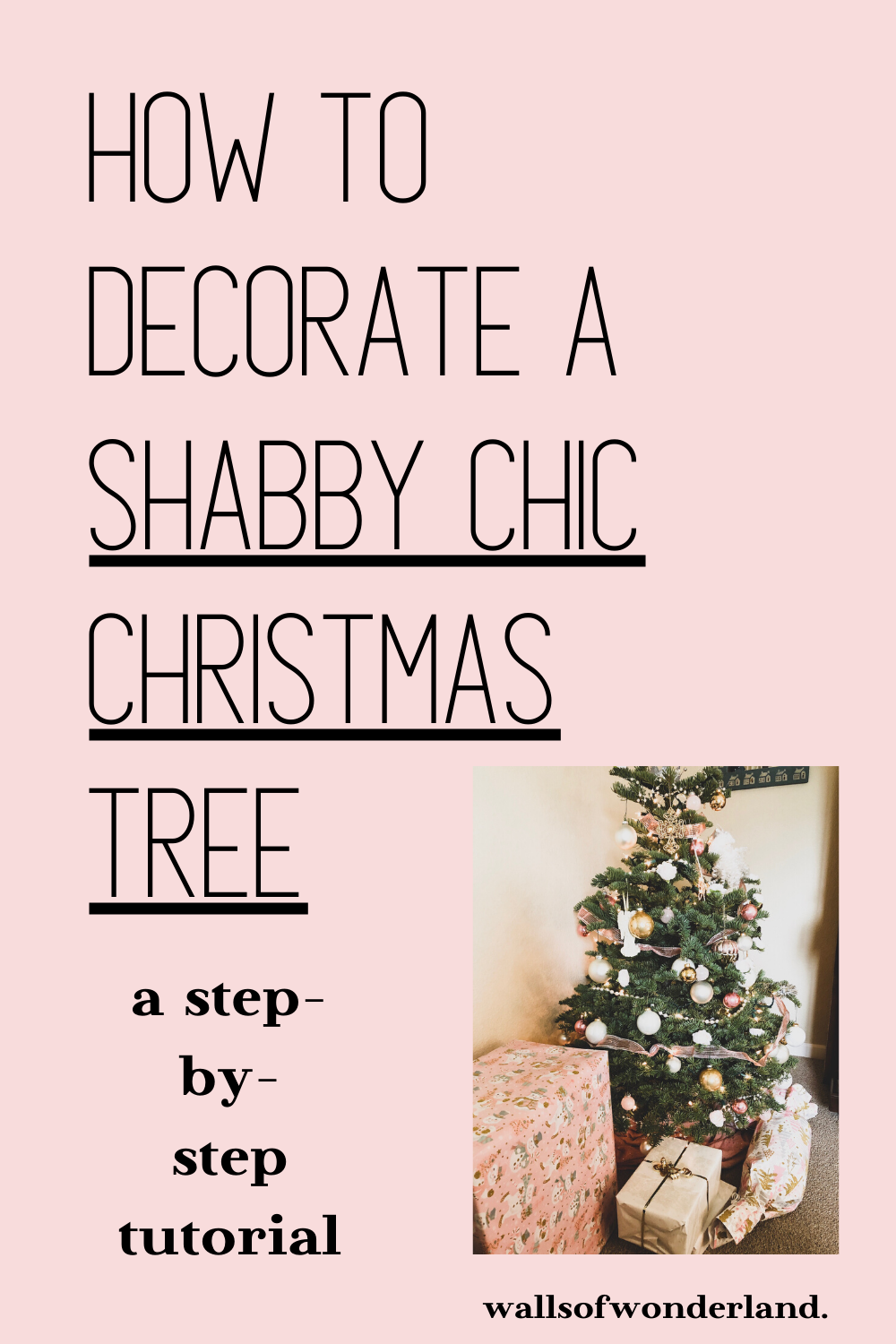 How To Decorate A Shabby Chic Christmas Tree In 2020 Shabby Chic Christmas Tree Shabby Chic Christmas Chic Christmas