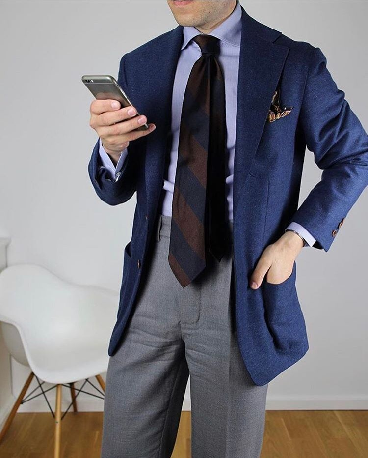 7c797f2107b2 shibumi-firenze: @tmhbrl sporting our navy/brown block stripe repp tie.  Available at shibumi-firenze.com #menswear #shibumi (at Florence Italy)