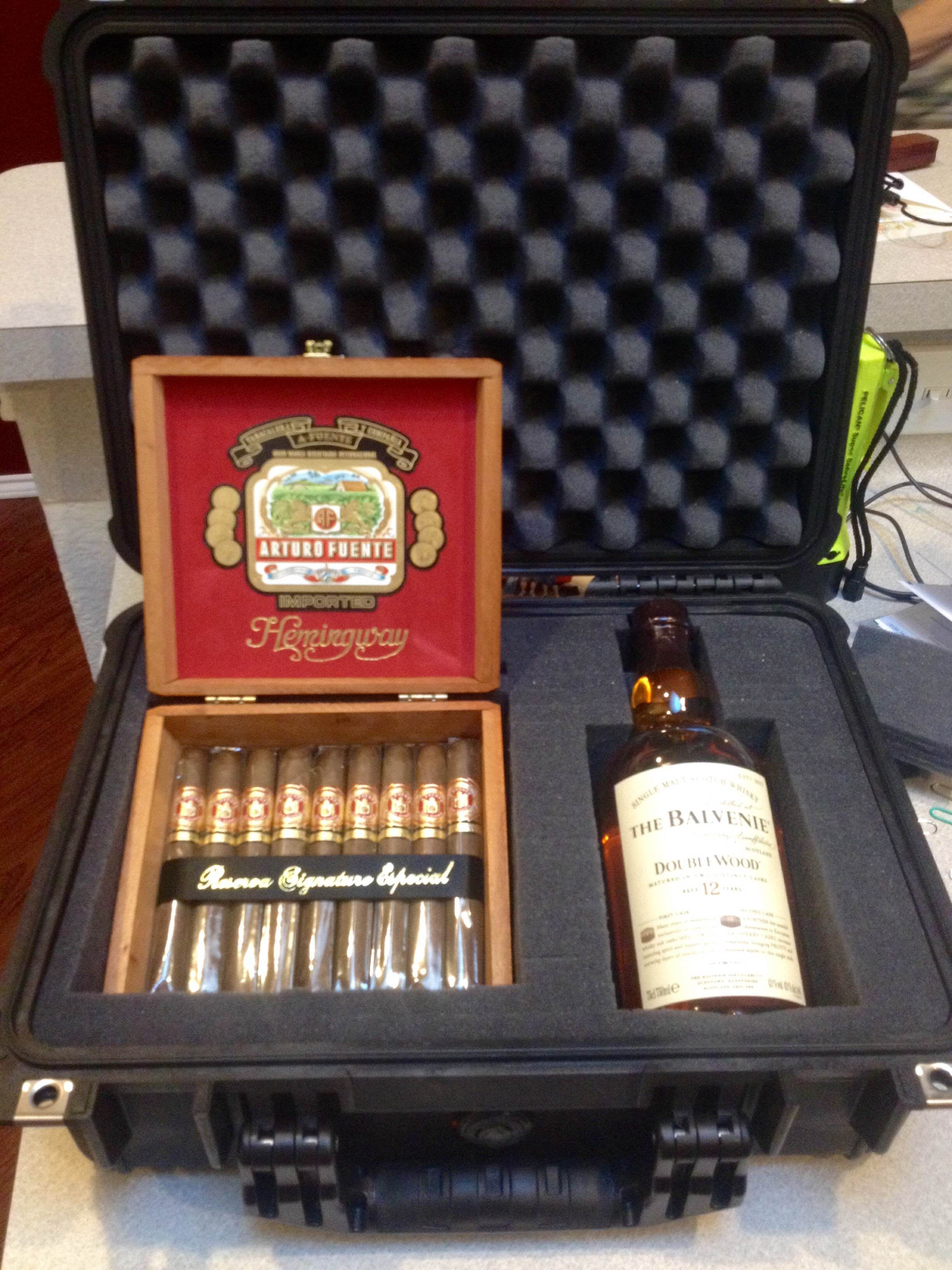 Bachelor Party Pelican Case Post Cigars And Whiskey Pelican Case Drink Carrier