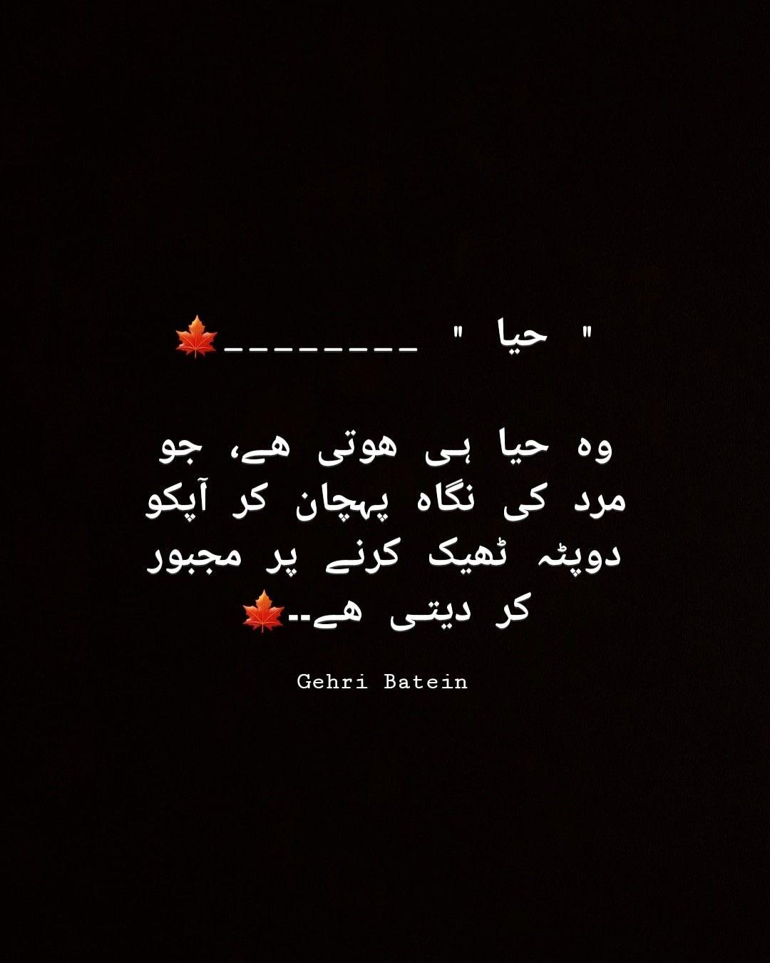 Gehri batein | Urdu Poetry | Urdu quotes, Urdu poetry, Quotes from