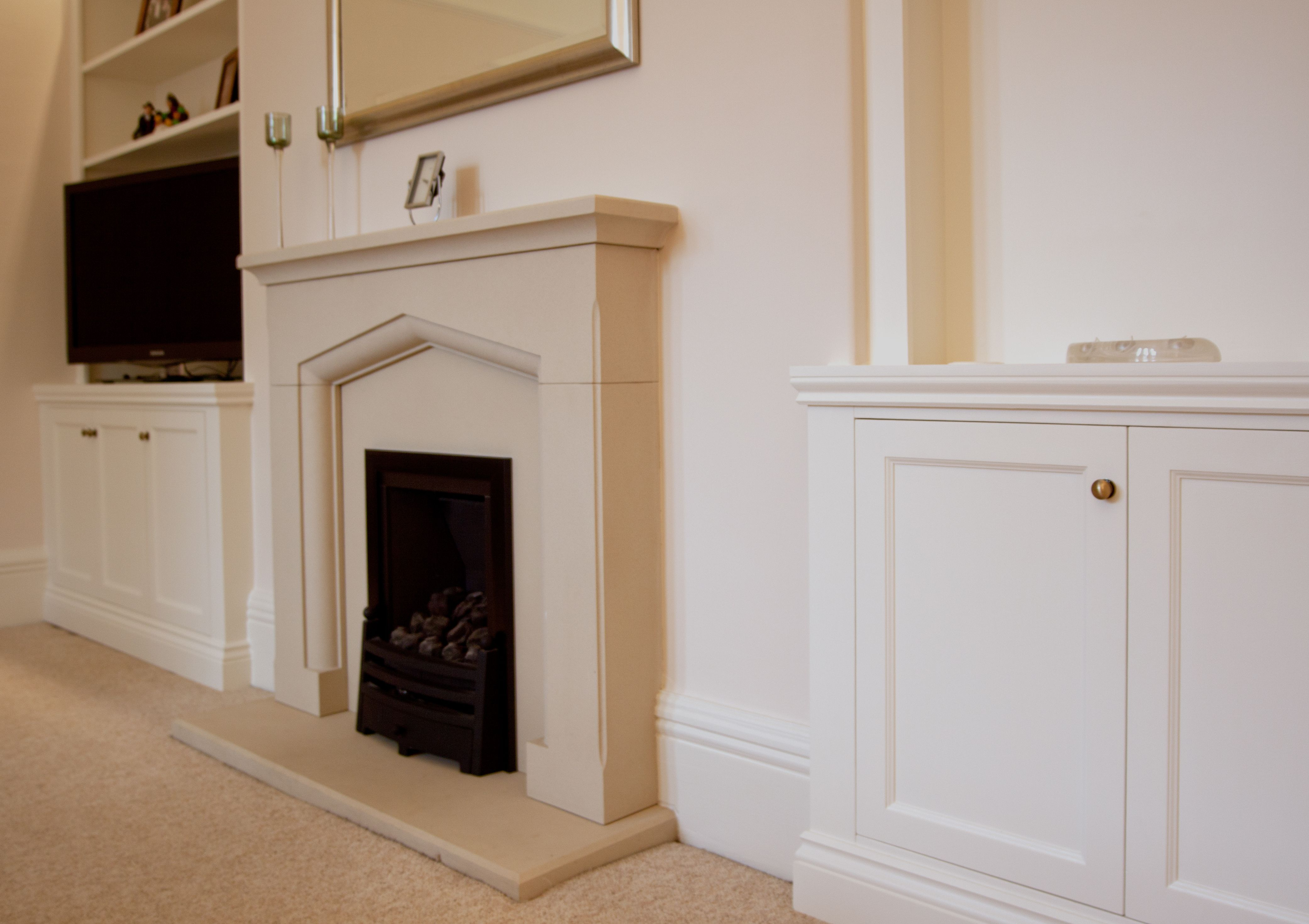 Best Beautiful Traditional Alcove Cabinets In Farrow Ball 400 x 300