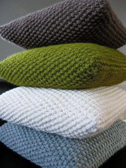 Узоры вязания для подушек 362