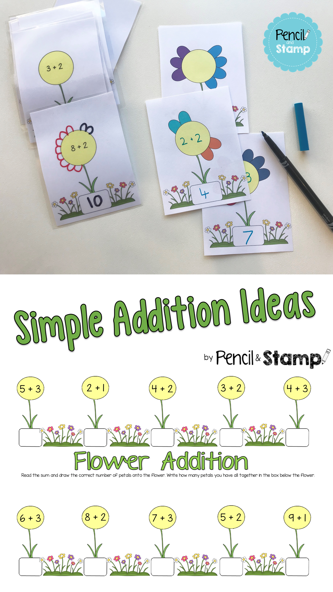 Flower Addition Kindergarten Ideas And Activities Simple