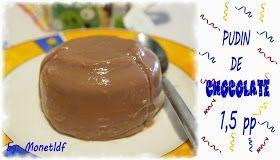 Recetas entulinea de Monetldf: Pudin de CHOCOLATE!, 1,5PP, recetas dieta entulínea/ en el microondas con receta.
