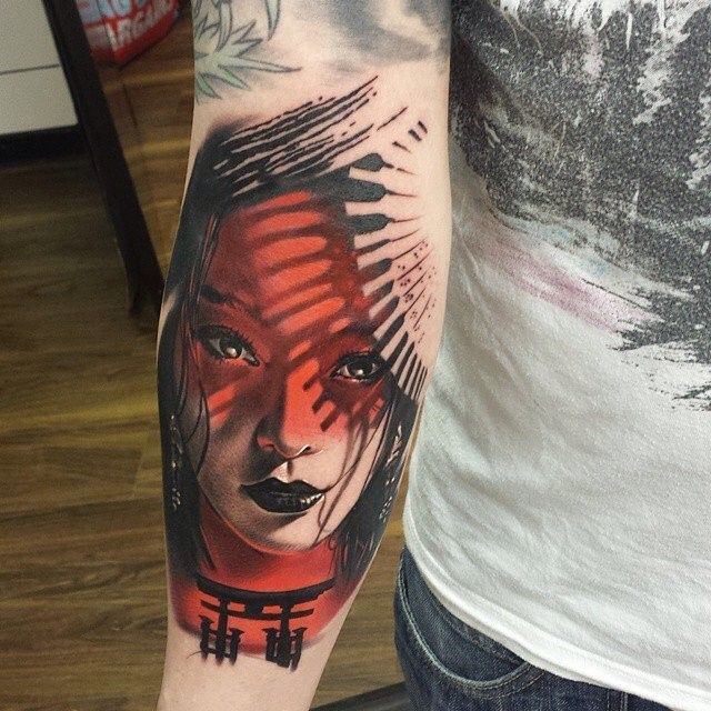 50 colorful japanese geisha tattoo meaning and designs for Geisha tattoo meaning