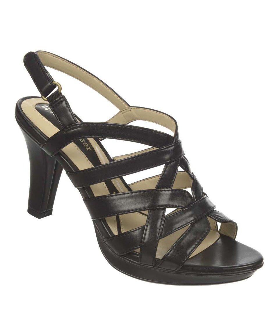 Naturalizer Womens Violet Black Slide Sandals Shoes 6.5