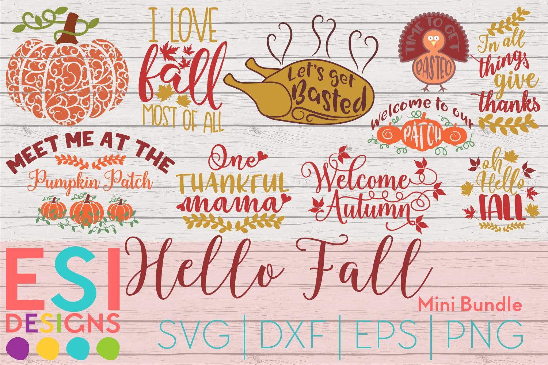 Hello Fall SVG Mini Bundle Commercial License Hello