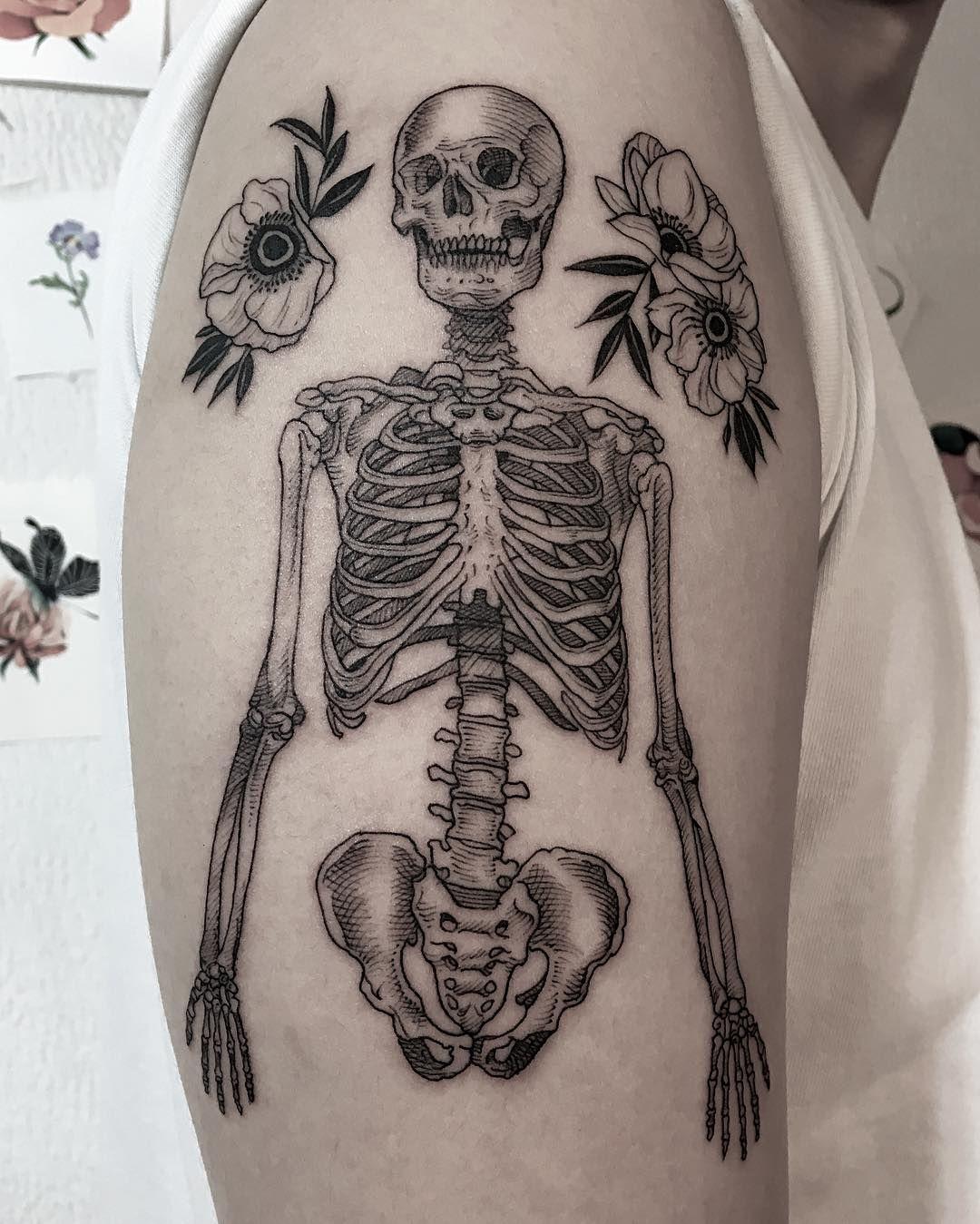 . Flower, skeleton