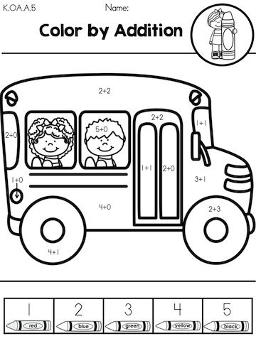 Back to School Kindergarten Math Worksheets | Math, Back to and Colors
