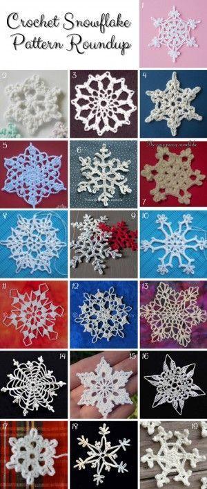 Crochet Snowflake Pattern Lots Of Ideas Video Tutorial Diy Best