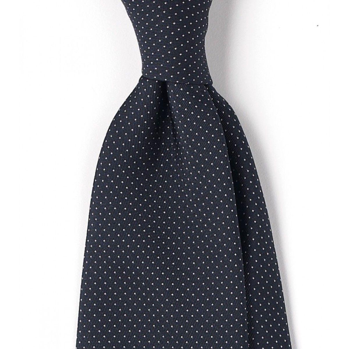 Cravate Bleu Marine À Motifs De Drake hk4b9Yv88