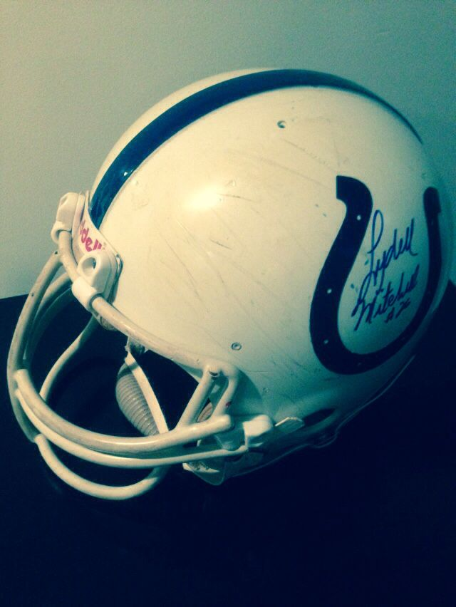 a5ec5f5f Baltimore Colts 1984 Curtis Dickey Game Used Helmet w/ Lydell ...