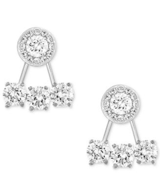 6f62d118a Swarovski Silver-Tone Crystal Earring Jackets with Stud Earrings | macys.com