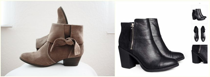 Ankle Boots by H&M and Tkmaxx