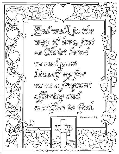 Ephesians 5:2 Print and Color Page, Walk in the way of