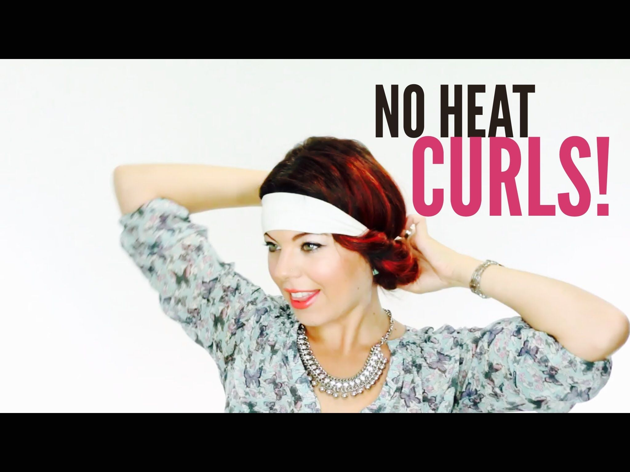 No Heat Curl Tutorial Video for Quick Easy Bouncy Waves