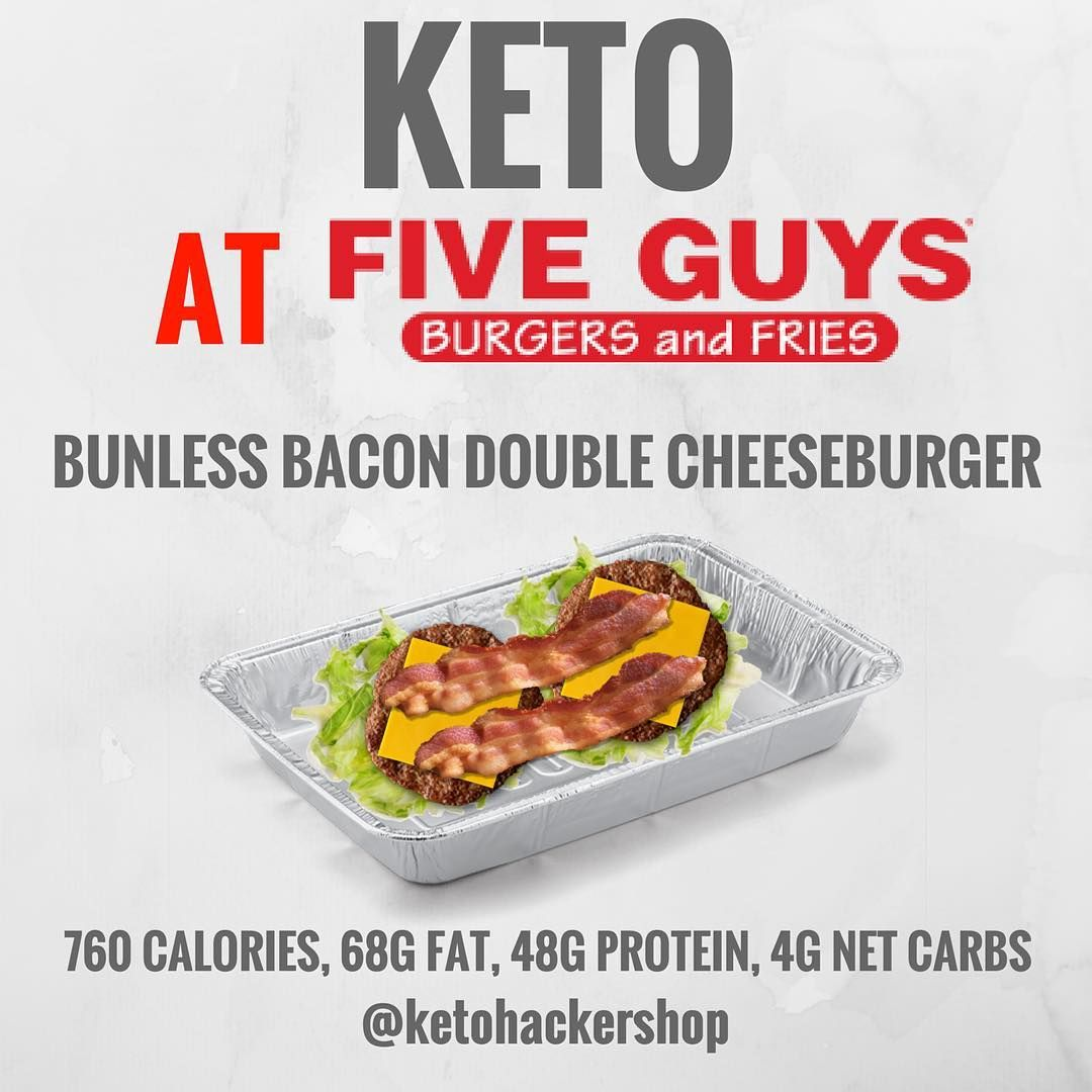 Keto At Five Guys So You Re Headed To Five Guys But Want To Order