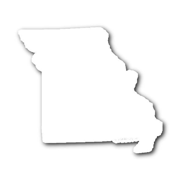Missouri State Shape Sticker Outline White State Shapes Missouri State Missouri