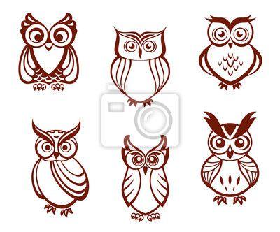 Sovicky Kreslene Hledat Googlem Sovy Owl Cartoon Owl Vector A