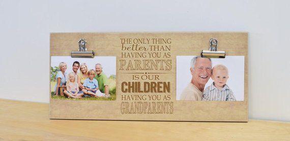 Grandparents Photo Frame, Gift For Grandparents, Grandparents Gift, Christmas Gift, Personalized Pic #grandparentphoto