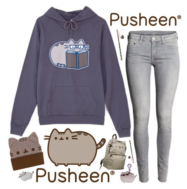"""""""#PVxPusheen"""" by metalhippieprincess ❤ liked on Polyvore featuring Pusheen and H&M"""