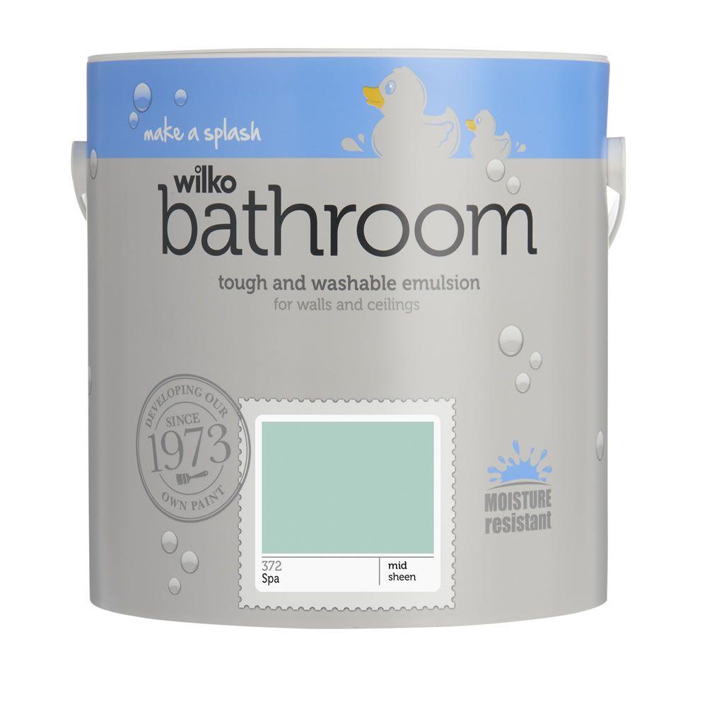 Wilko Bathroom Mid Sheen Emulsion Paint Spa 2.5L | Kitchen ...