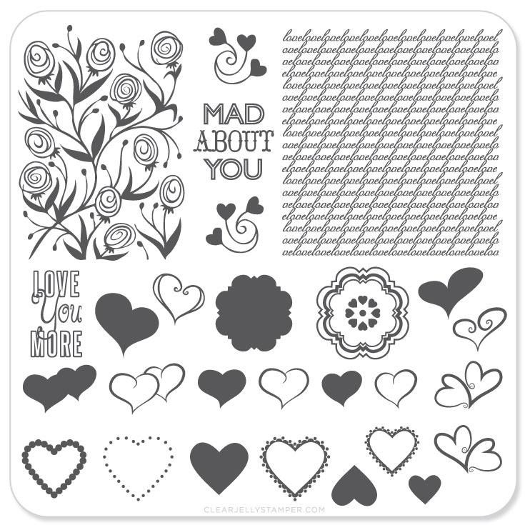 Cjsv-04 'layers Of Love' - Layered Stamping Plates - Cjsv-04 Cjsv-04 'layers Of Love' - Layered Stamping Plates - Cjsv-04 Nail Stamping nail stamping layers