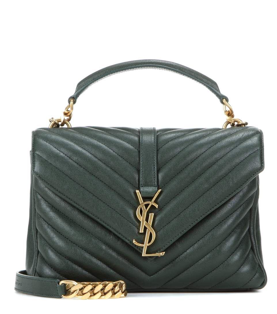 7951ef02f9 SAINT LAURENT Collège Monogram Medium Quilted Leather Shoulder Bag.   saintlaurent  bags  shoulder bags  leather  lining